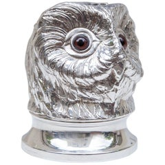 Franco Lapini Silver Plated Owl Ice Bucket, Italy, 1980