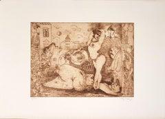 La Bella Otero - Origina Etching by F. Rognoni - 1951