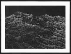 Dark Clamour by F. S. Borquez - Work on paper, contemporary, ocean waves