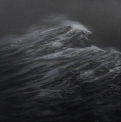 Duality by Franco Salas Borquez - Contemporary Seascape Painting, dark tones