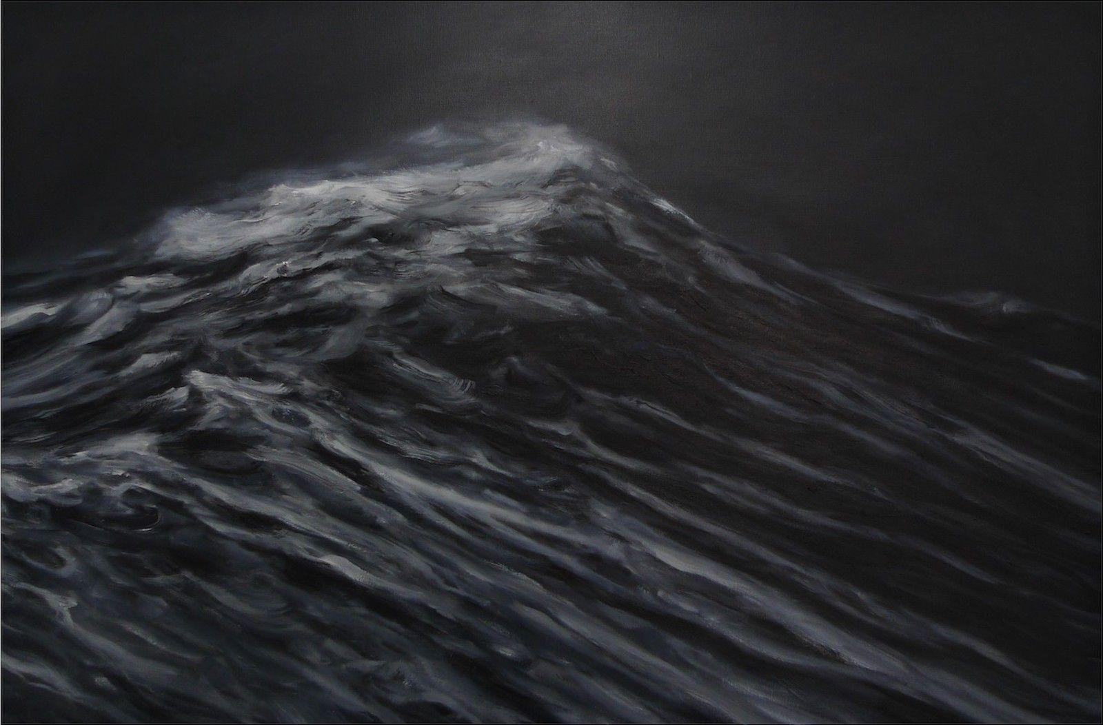 The Origin of the World - Contemporary Oil Painting, Seascape, Ocean waves