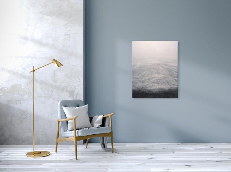 The Secret by F. S. Borquez - Contemporary Oil Painting, Seascape, Ocean waves For Sale 1