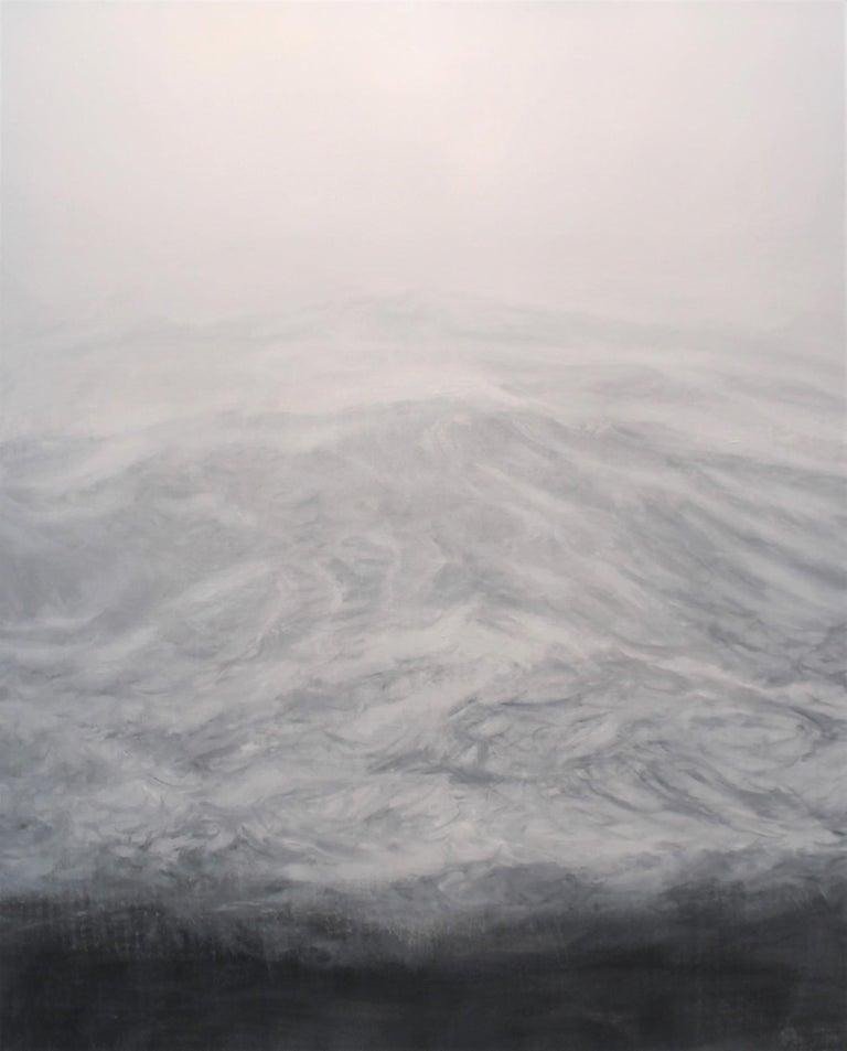 Franco Salas Borquez Landscape Painting - The Secret by F. S. Borquez - Contemporary Oil Painting, Seascape, Ocean waves