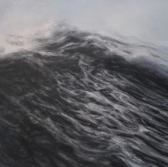 Veritas by F. S. Borquez - Contemporary Oil Painting, Seascape, Ocean waves