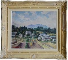 François Baboulet Japon Landscape Oil on Canvas, 1940s