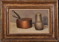 Still Life of a Copper Pan and Pewter Jug