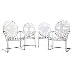 Francois Carre Oversize Steel Spring Sunburst Garden Chairs