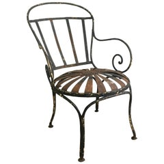 Francois Carre Sunburst Garden Chair, circa 1920s