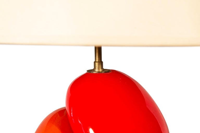 François Chatain, Table Lamp, Signed, circa 1970, France In Good Condition For Sale In Nice, Cote d' Azur