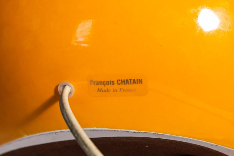 1970s François Chatain, Table Lamp, Signed, circa 1970, France For Sale