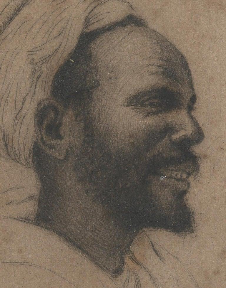French François de Hérain, Portrait of a Man, Drawing on Paper For Sale