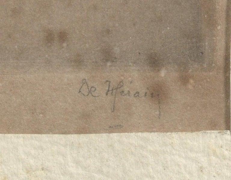 20th Century François de Hérain, Portrait of a Man, Drawing on Paper For Sale