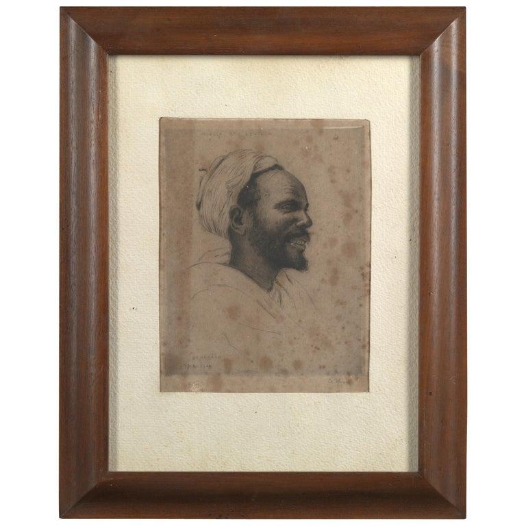 François de Hérain, Portrait of a Man, Drawing on Paper For Sale