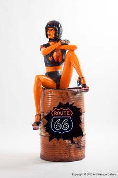 DYNA by Francois Duerinckx, Harley Davidson Pop Art Sculpture, Contemporary Art