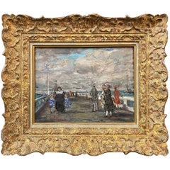 French Scene on a Bridge