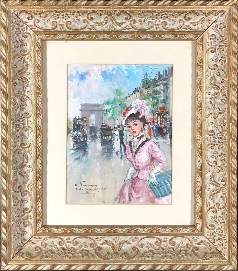 Champs Elysees - Painting by Francois Gerome