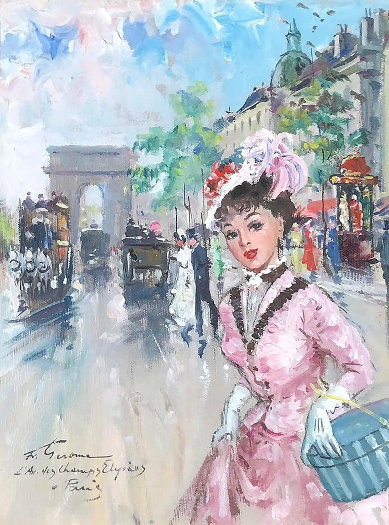 Francois Gerome Landscape Painting - Champs Elysees
