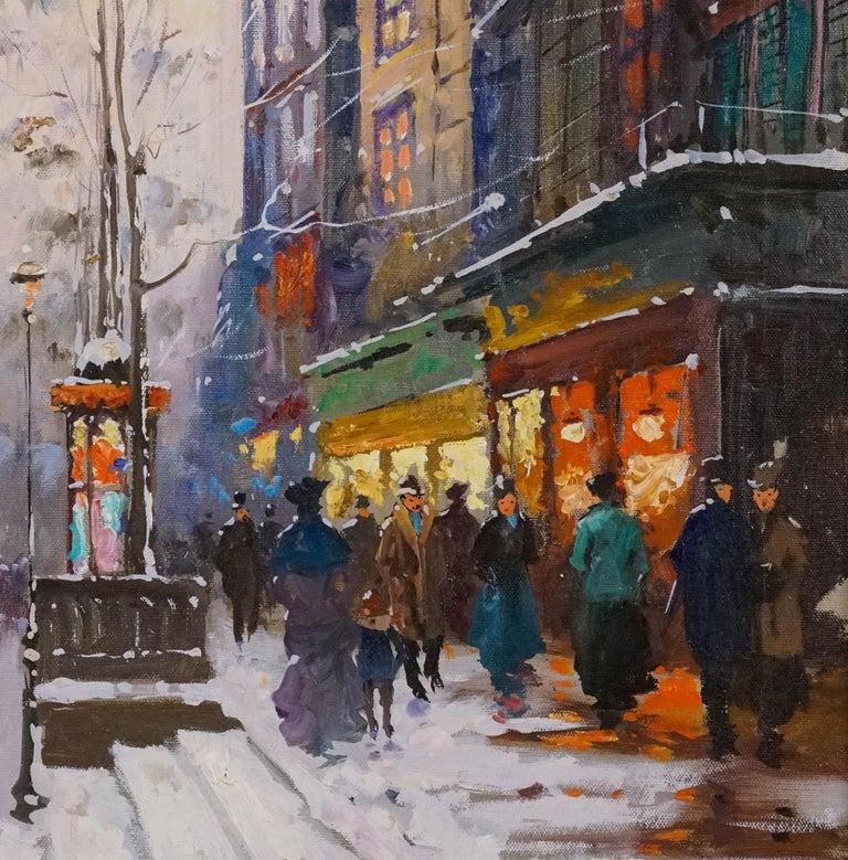 La Porte de St. Martin, Paris - Post-Impressionist Painting by Francois Gerome