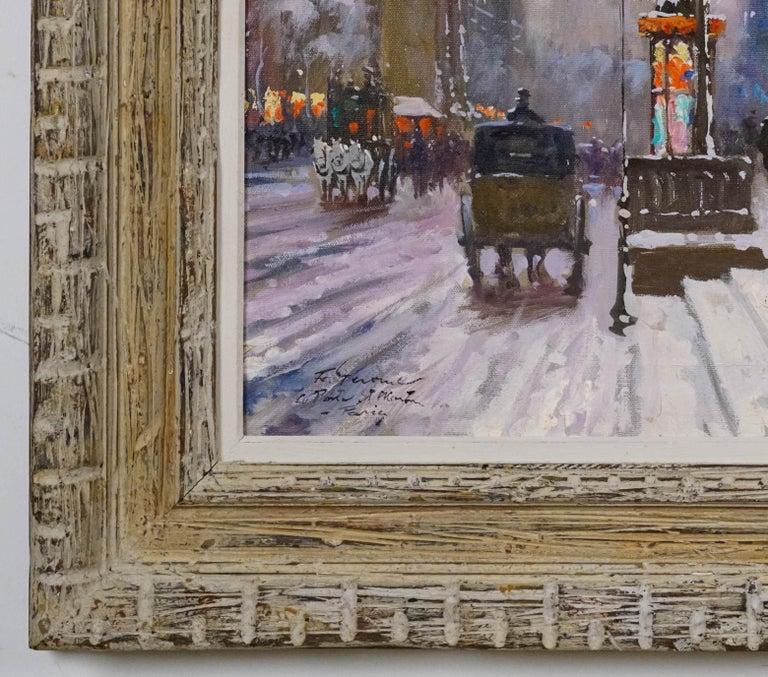 La Porte de St. Martin, Paris - Gray Landscape Painting by Francois Gerome