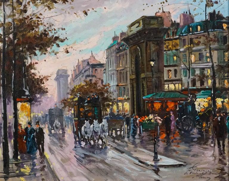 La Porte de St.Denis, Paris - Painting by Francois Gerome