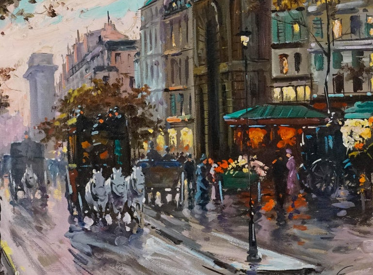 La Porte de St.Denis, Paris - Post-Impressionist Painting by Francois Gerome