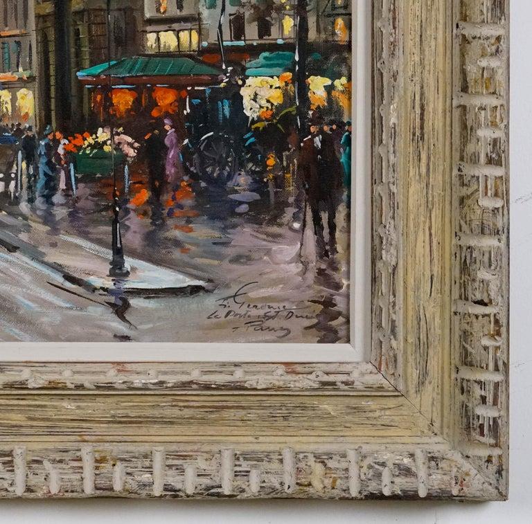 La Porte de St.Denis, Paris - Brown Landscape Painting by Francois Gerome