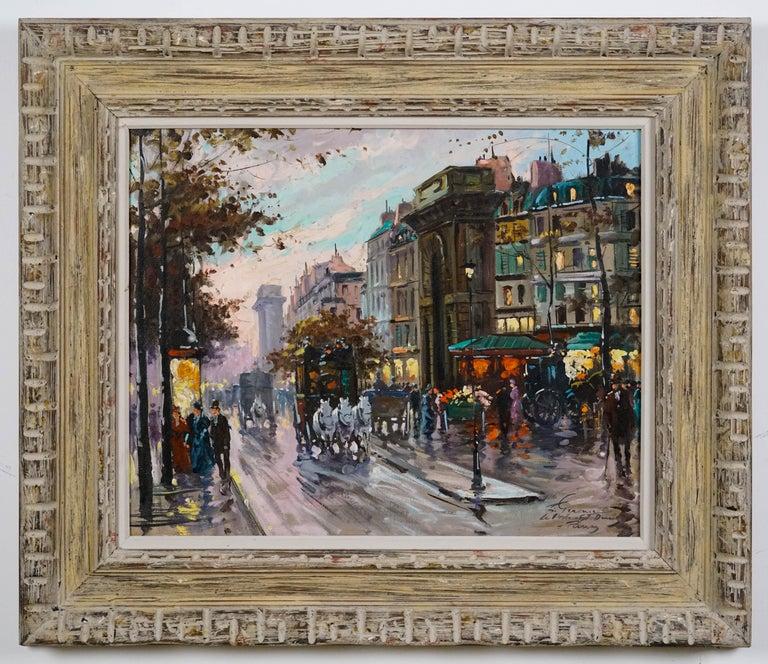 Francois Gerome Landscape Painting - La Porte de St.Denis, Paris