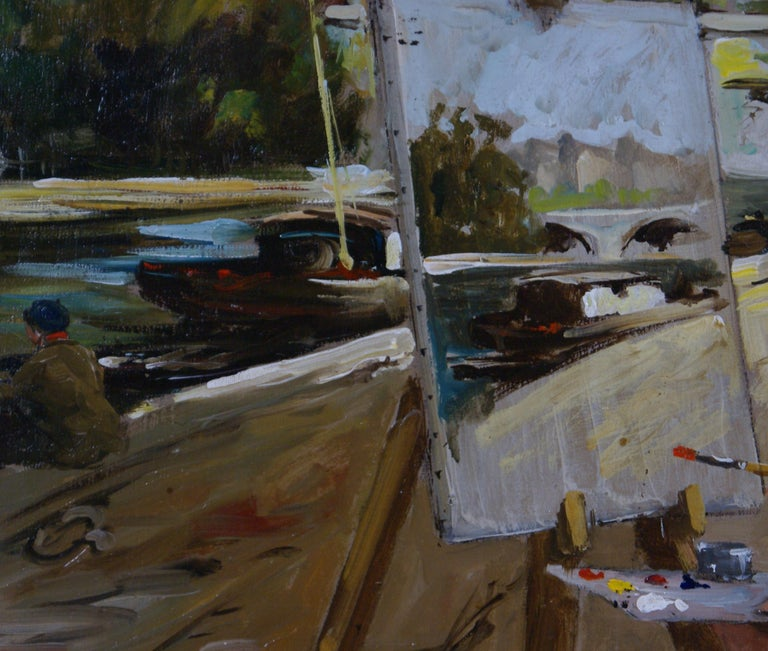 Le Pont Neuf à Paris - Impressionist Painting by Francois Gerome