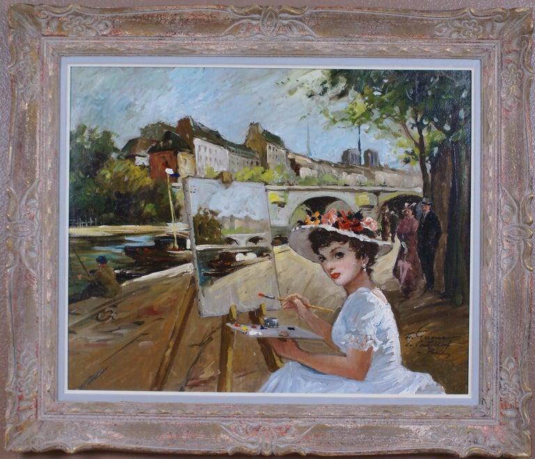 Francois Gerome Figurative Painting - Le Pont Neuf à Paris