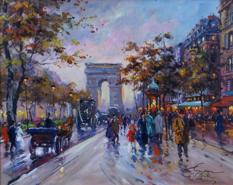 L'Étoile - Paris - Painting by Francois Gerome