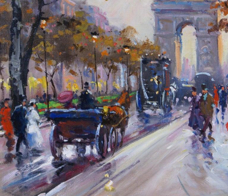 L'Étoile - Paris - Impressionist Painting by Francois Gerome
