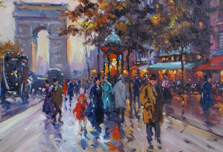 L'Étoile - Paris - Gray Landscape Painting by Francois Gerome