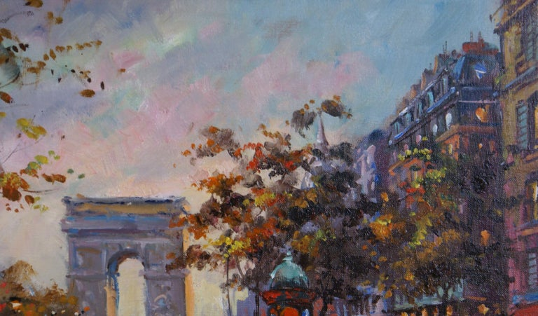 Gerome's depiction of the Place de l'Étoile (Star of the Square), the meeting place of twelve straight avenues. The Arc de Triomphe stands at the center. In 1970 the Place de  l'Étoile was renamed the Place Charles de Gaulle, following the death of