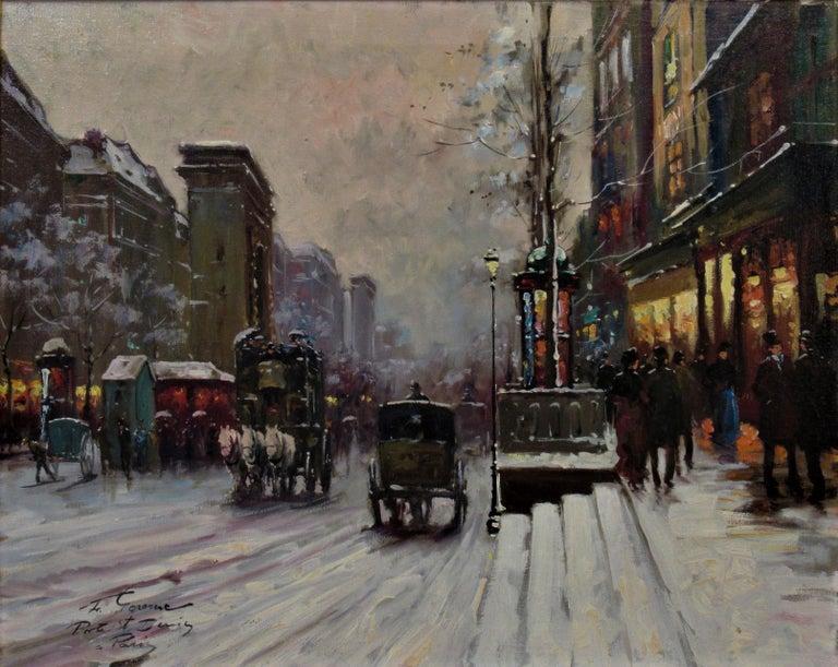 Porte Saint Denis, Paris - Painting by Francois Gerome