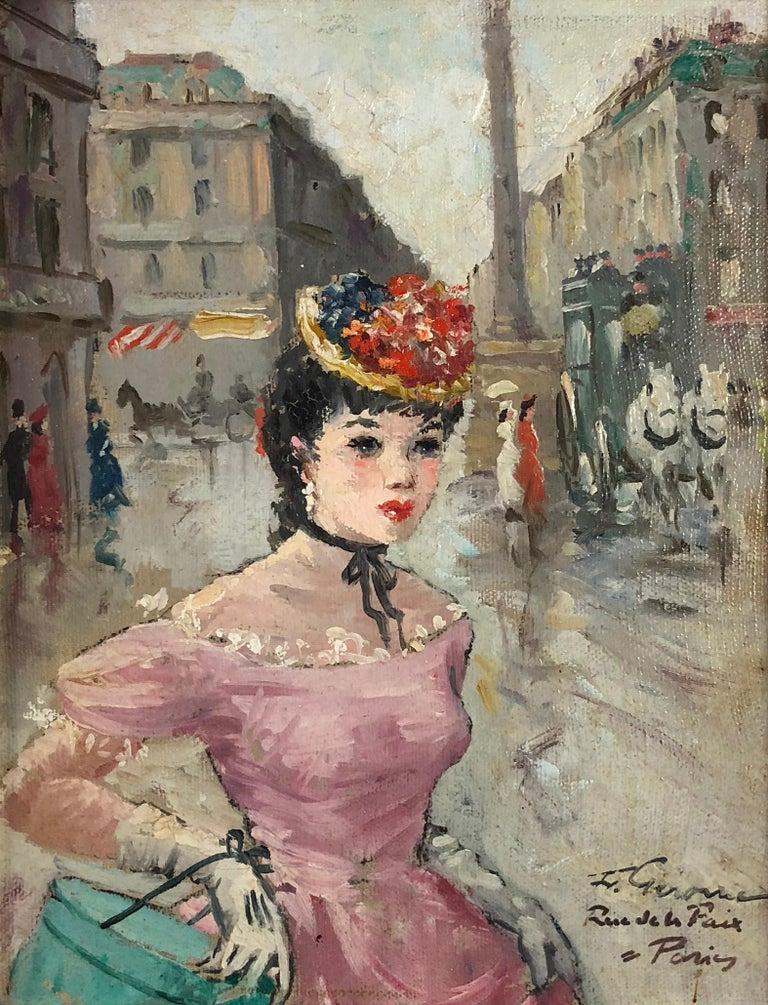 Rue de la Paix, Paris - Painting by Francois Gerome