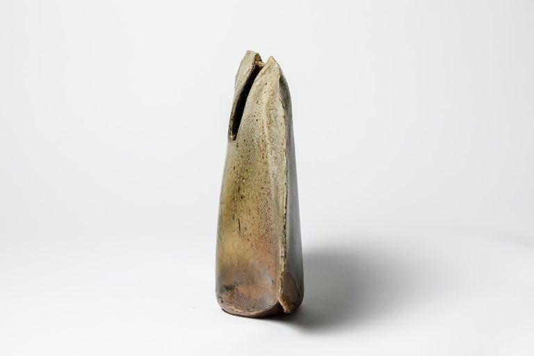 François Gueneau French 20th Century Colored Ceramic Sculpture Vase, circa 1975 For Sale 1