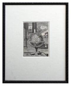 Early 18th Century Globe Terrestre Engraving