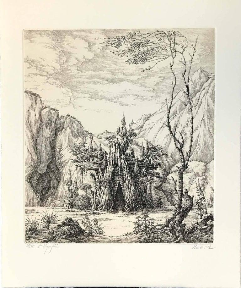 François Houtin Landscape Print - 1er Nymphée