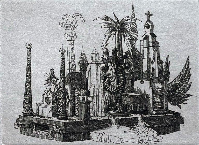 François Houtin Landscape Print - La Grande Tambe (the Big Drums)