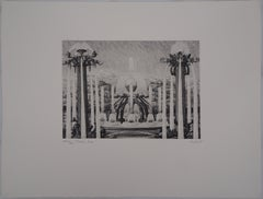 Versailles : The Fountains - Original etching, Handsigned and Ltd to 45 proofs