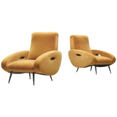 Francois Letourneur Pair of Reupholstered Lounge Chairs