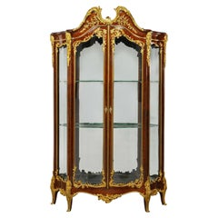 Francois Linke, a Large and Fine Gilt-Bronze Mounted Kingwood Grand Vitrine