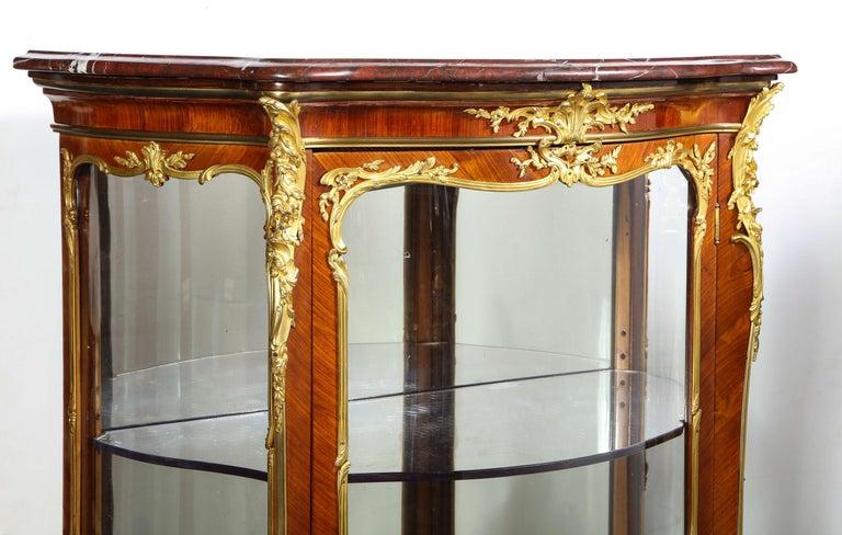 Francois Linke, an Exceptional French Ormolu-Mounted Kingwood Vitrine Cabinet For Sale 8
