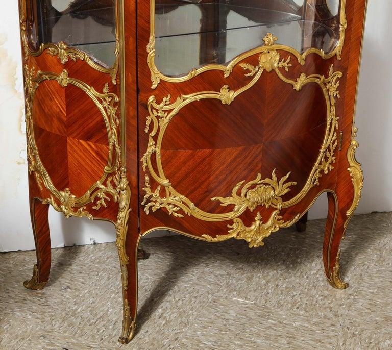 Francois Linke, an Exceptional French Ormolu-Mounted Kingwood Vitrine Cabinet For Sale 9