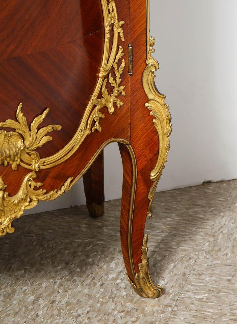Francois Linke, an Exceptional French Ormolu-Mounted Kingwood Vitrine Cabinet For Sale 12