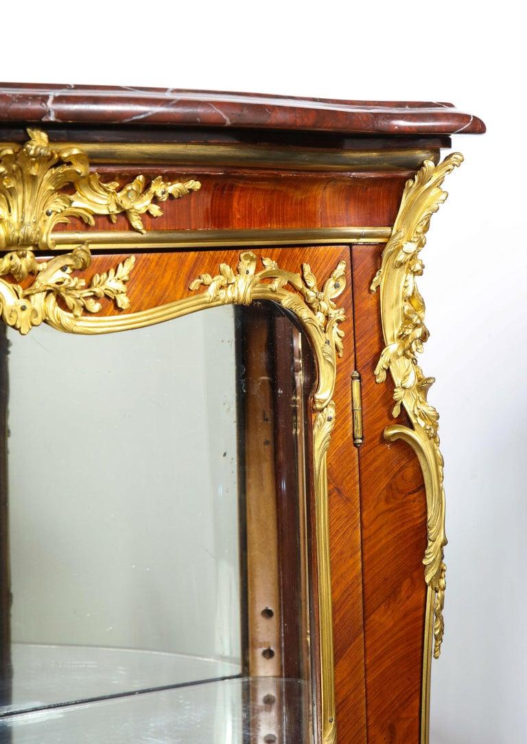 Francois Linke, an Exceptional French Ormolu-Mounted Kingwood Vitrine Cabinet For Sale 13