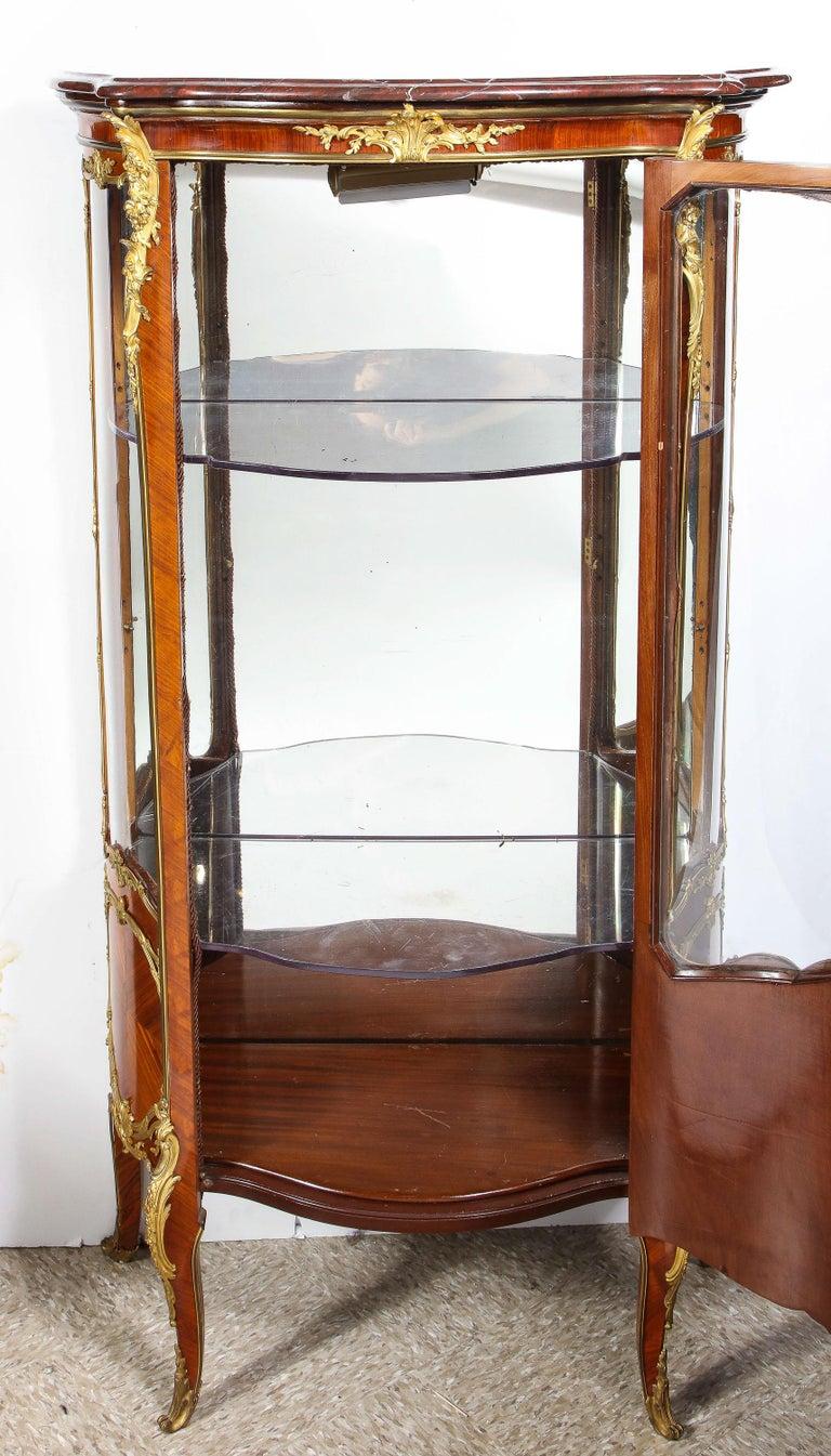 Francois Linke, an Exceptional French Ormolu-Mounted Kingwood Vitrine Cabinet For Sale 3