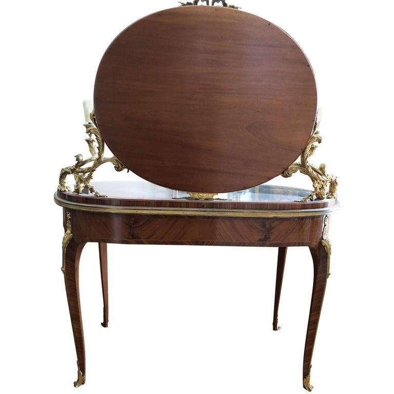French Provincial François Linke Mounted Table De Toilette, Late 19th Century For Sale