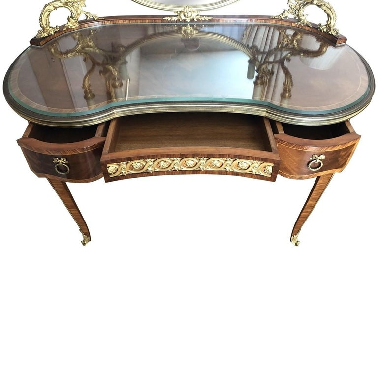 French François Linke Mounted Table De Toilette, Late 19th Century For Sale