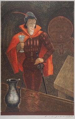 Young Man - Original Woodcut Print